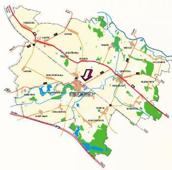 Gmina Lewin Brzeski mapa