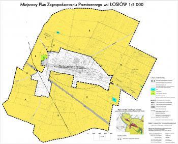 Miejscowy Paln Zagospodarowania Przestrzennego wsi Łosiów skala 1-5000 - na stronę www