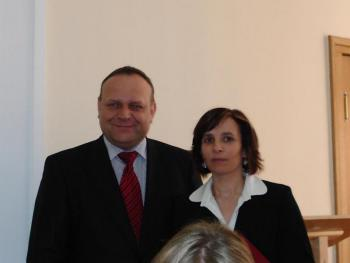 Wręczenie dyplomu, Warszawa