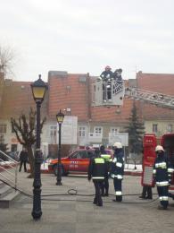ćwiczenia przeciwpożarowe w Urzędzie w Lewinie