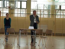 Dzień samorządności w Gimnazjum w Lewinie Brzeskim
