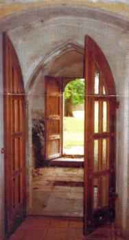 wejście do Kościoła ewangelickiego w Lewinie Brzeskim